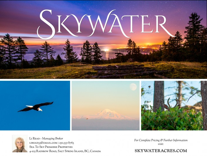 Skywater Acrea, British Columbia, Back of 4 panel brochure