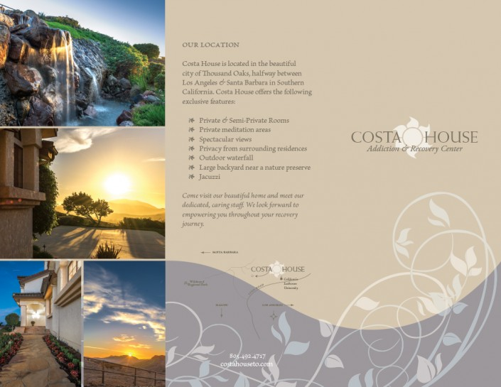 Front of Tri-Fold Brochure - Costa House